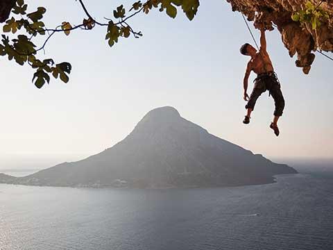 Voice Actor Rock Climbing in Greece