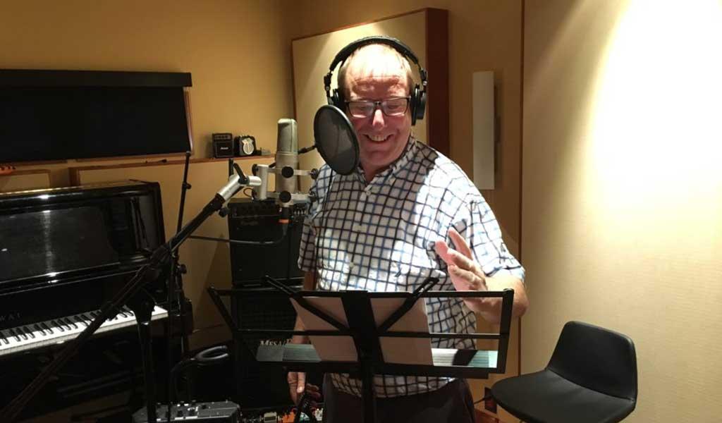 voice artist with home studio