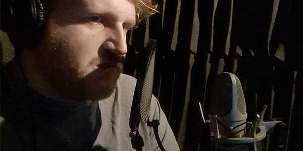 Pat Seymore behind the mic